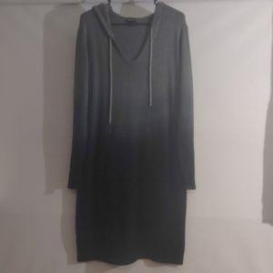Torrid grey and black ombre hoodie/sweater dress